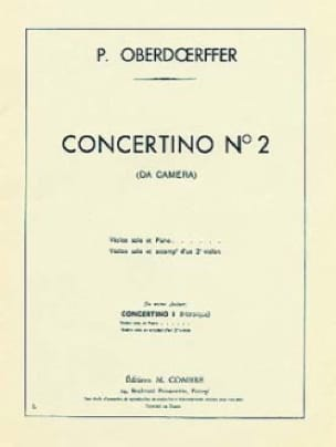 Paul Oberdoerffer - Concertino n ° 2 - Partition - di-arezzo.com