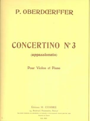 Paul Oberdoerffer - Concertino n ° 3 - Partition - di-arezzo.com
