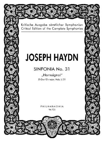 Symphonie Nr. 31 D-Dur Hob. 1 : 31 - Partitur - laflutedepan.com