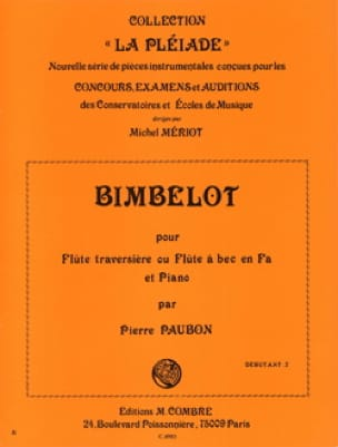 Pierre Paubon - Bimbelot - Flute and Piano - Partition - di-arezzo.co.uk