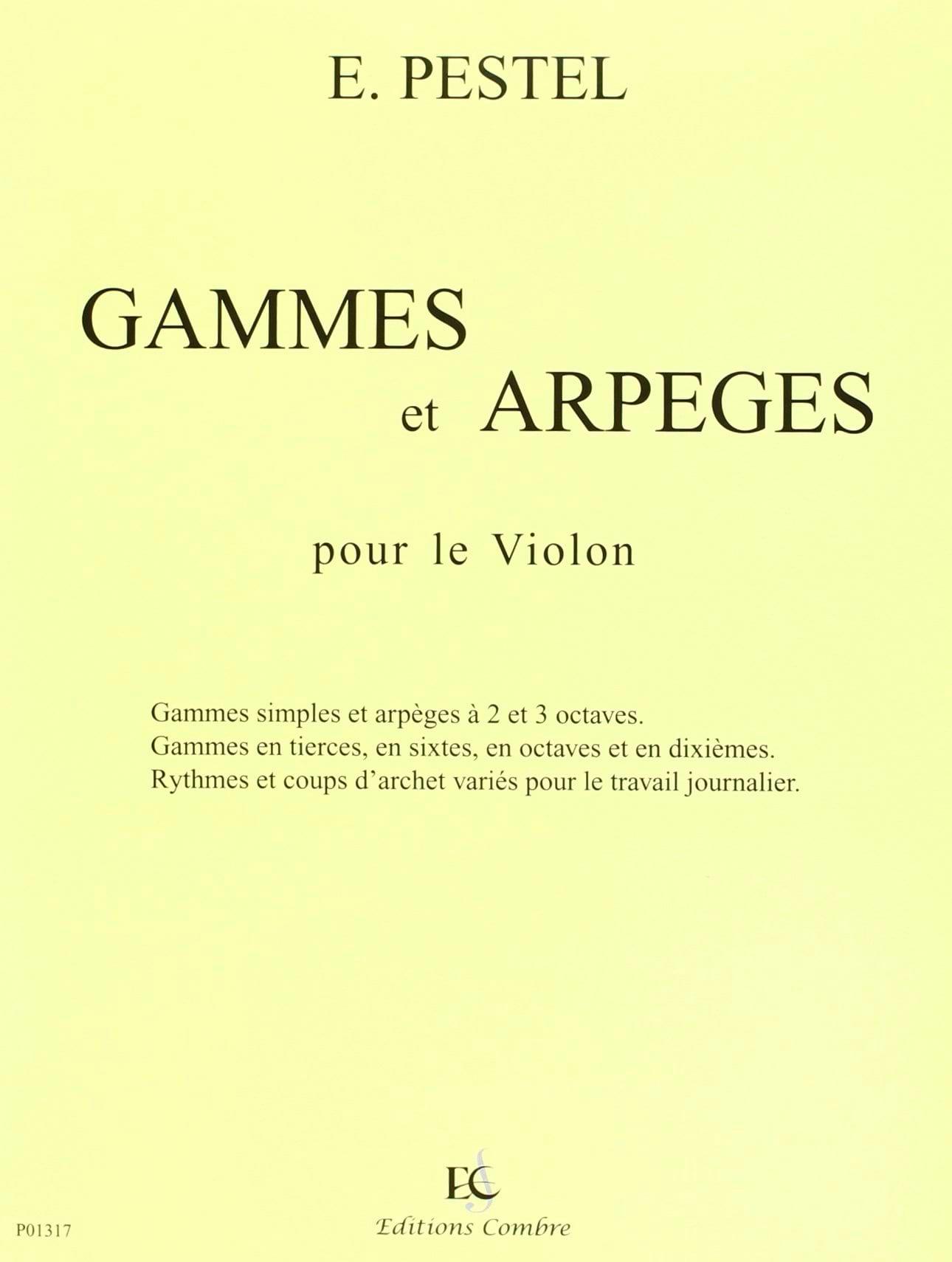 Gammes et Arpèges - E. Pestel - Partition - Violon - laflutedepan.com