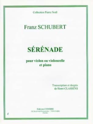 SCHUBERT - Serenade - Violin or Cello - Partition - di-arezzo.co.uk