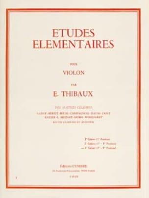 Etudes Elémentaires Volume 3 - E. Thibaux - laflutedepan.com