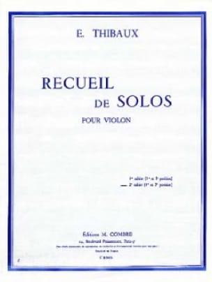 Recueil de Solos, cahier n° 2 - E. Thibaux - laflutedepan.com