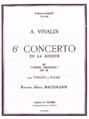 VIVALDI - 6th Violin Concerto In The Minor Op. 3 - Partition - di-arezzo.co.uk