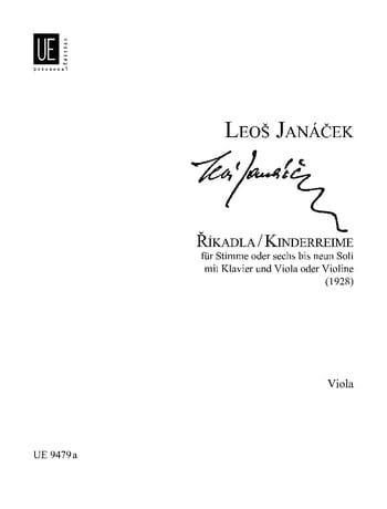 Kinderreime - Viola - JANACEK - Partition - Alto - laflutedepan.com