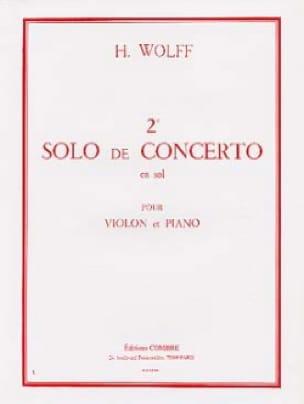 2ème Solo du Concerto en sol - H. Wolff - Partition - laflutedepan.com