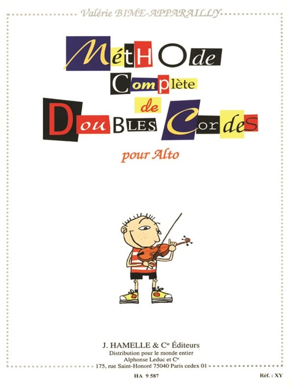 Valérie Bime-Apparailly - Complete method of double strings for viola - Partition - di-arezzo.co.uk