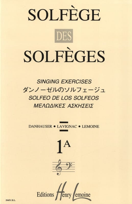 Lavignac - Solfeggio of Solfeggio Volume 1 A - Unaccompanied - Partition - di-arezzo.co.uk
