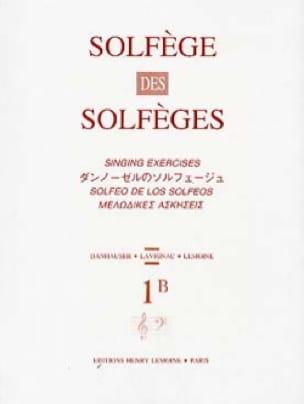 Lavignac - Volume 1B - A / A - Solfeggio Solfeggio - Partition - di-arezzo.co.uk