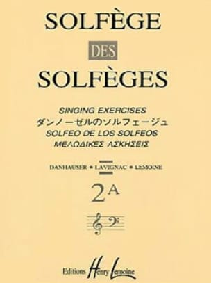 Volume 2A - A/A - Solfège des Solfèges - Lavignac - laflutedepan.com