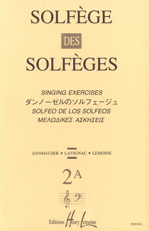 Lavignac - Volume 2A - S / A - Solfeggio of the Solfeggio - Partition - di-arezzo.co.uk