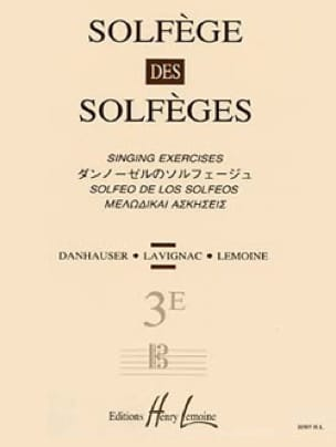 Lavignac - Volume 3E S / A - Solfeggio of the Solfeggio - Partition - di-arezzo.co.uk