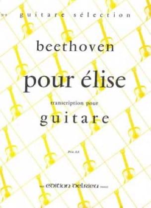 Lettre à Elise - BEETHOVEN - Partition - Guitare - laflutedepan.com