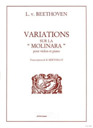BEETHOVEN - Variations on the Molinara - Partition - di-arezzo.com