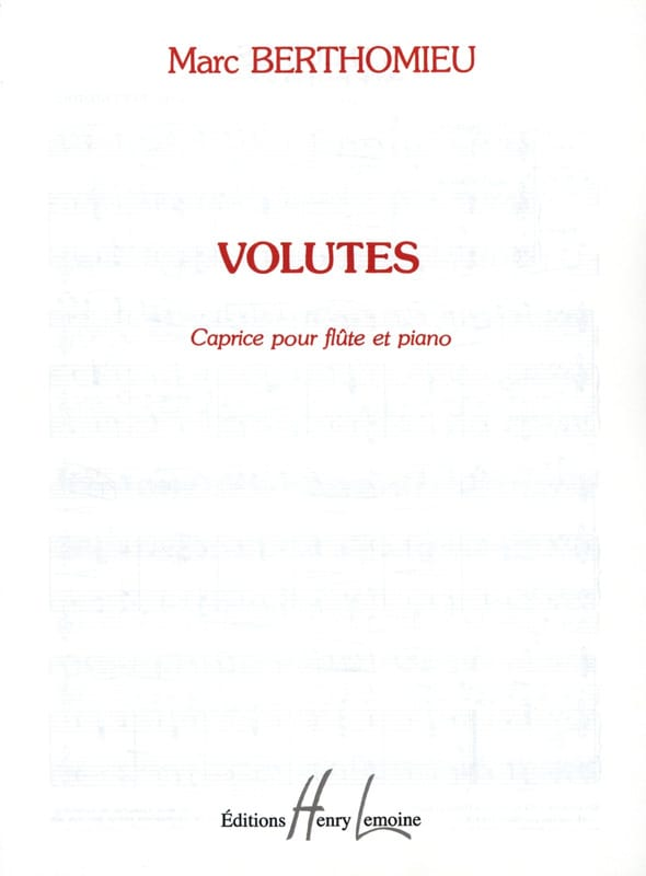 Marc Berthomieu - Volutes - Partition - di-arezzo.fr
