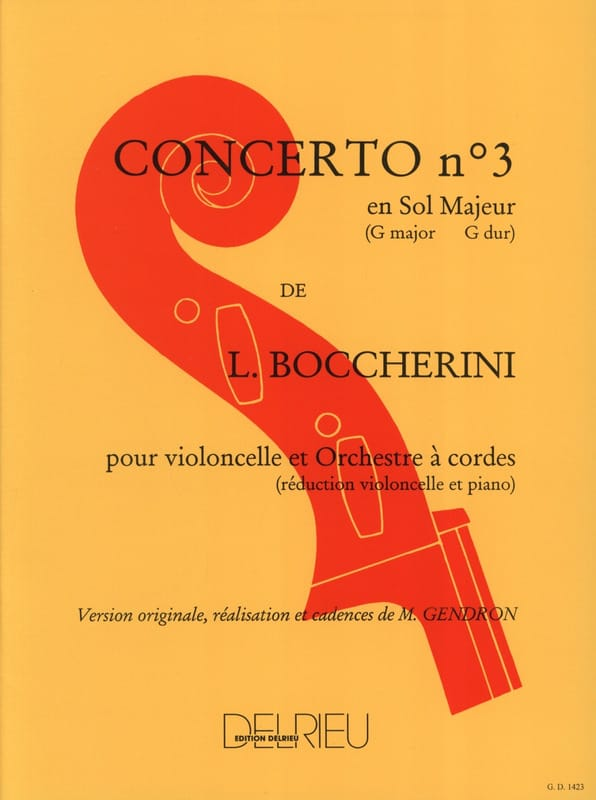BOCCHERINI - Cello Concerto No. 3 G major G. 480 - Partition - di-arezzo.co.uk