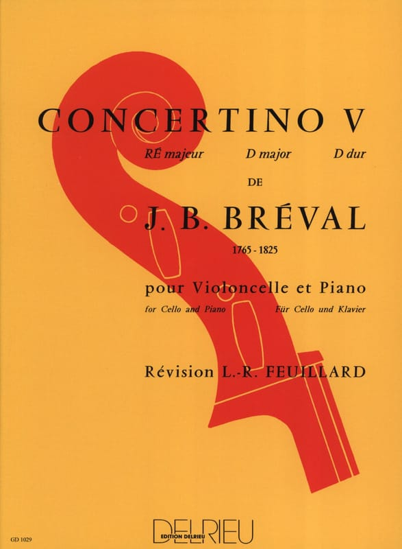 Jean-Baptiste Bréval - Concertino n.º 5 en re mayor - Partition - di-arezzo.es