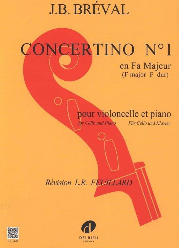 Jean-Baptiste Bréval - Concertino No. 1 in F Major - Partition - di-arezzo.co.uk