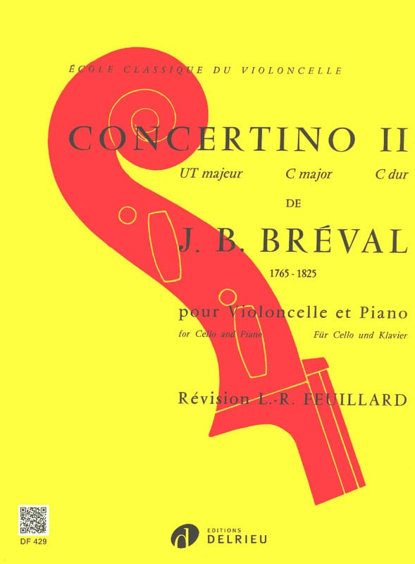 Jean-Baptiste Bréval - Concertino n ° 2 in C Major - Partition - di-arezzo.com