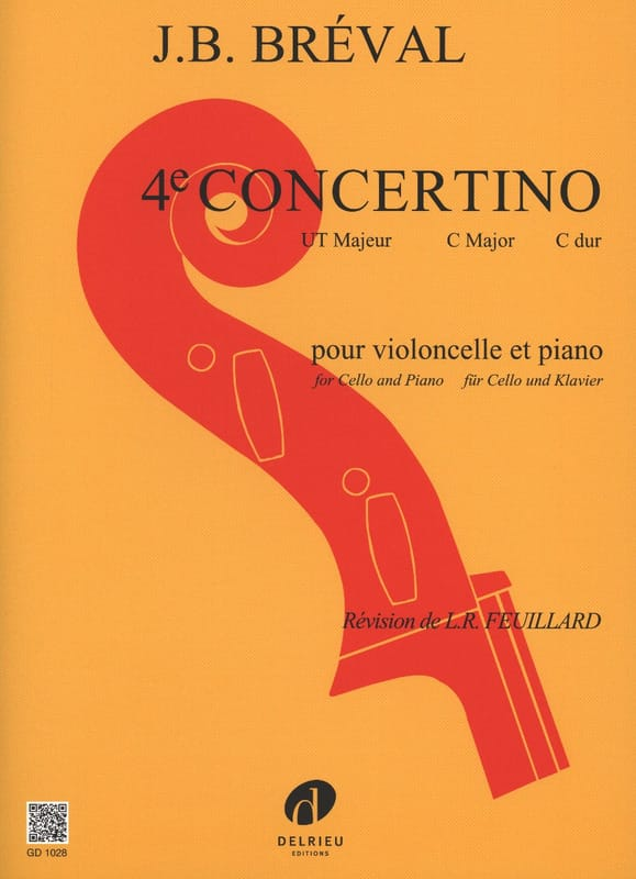 Jean-Baptiste Bréval - Concertino n ° 4 en Do mayor - Partition - di-arezzo.es