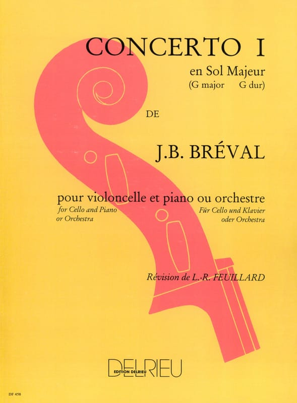 Jean-Baptiste Bréval - Cello Concerto No. 1 in G major - Partition - di-arezzo.co.uk