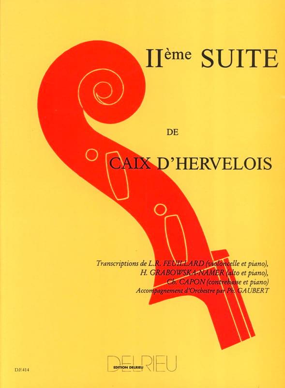 d'Hervelois Louis de Caix - Suite N ° 2 - Partition - di-arezzo.co.uk