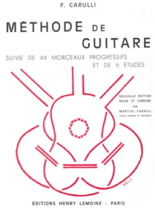 Méthode de guitare - Ferdinando Carulli - Partition - laflutedepan.com