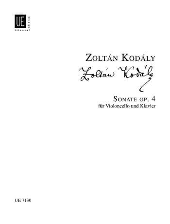 Zoltan Kodaly - Sonata op. 4 - Partition - di-arezzo.com