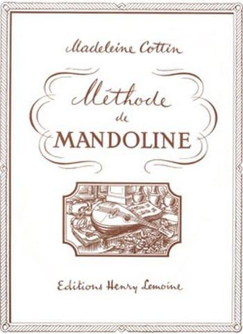 Méthode de mandoline - Madeleine Cottin - Partition - laflutedepan.com