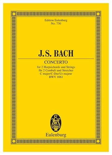 Konzert C-Dur - BACH - Partition - Petit format - laflutedepan.com