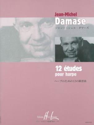 12 Etudes Pour Harpe - Jean-Michel Damase - laflutedepan.com