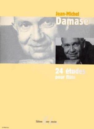 Jean-Michel Damase - 24 Studies for flute - Partition - di-arezzo.com