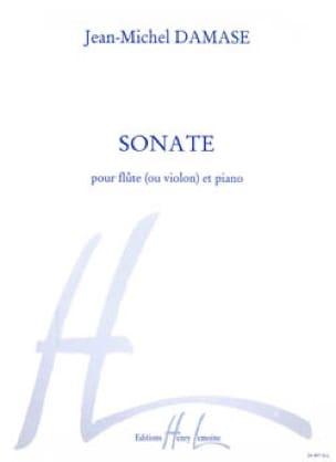 Jean-Michel Damase - Sonate - Flûte ou violon et piano - Partition - di-arezzo.fr