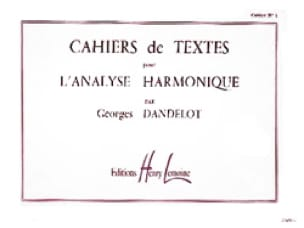 DANDELOT - Cahiers de Textes N ° 1 For Harmonic Analysis - Partition - di-arezzo.com