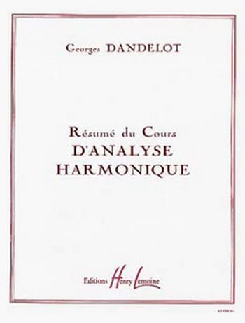 DANDELOT - Summary of the harmonic analysis course - Partition - di-arezzo.com