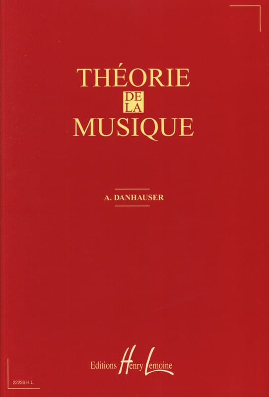 DANHAUSER - Theory of music - Partition - di-arezzo.com
