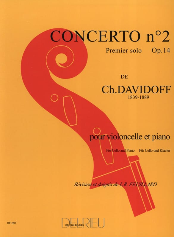 Charles Davidoff - Concerto No. 2 op. 14 in A minor 1st solo - Partition - di-arezzo.co.uk