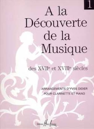 Yves Didier - Descubriendo ... Volumen 1 - Clarinete - Partition - di-arezzo.es