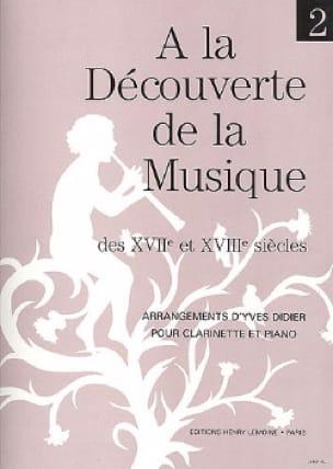 Yves Didier - Descubriendo ... Volumen 2 - Clarinete - Partition - di-arezzo.es