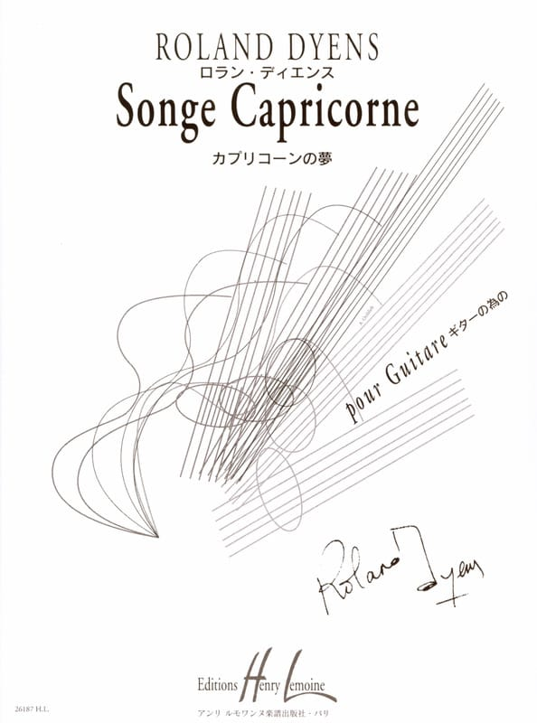 Roland Dyens - Capricorn dream - Partition - di-arezzo.com
