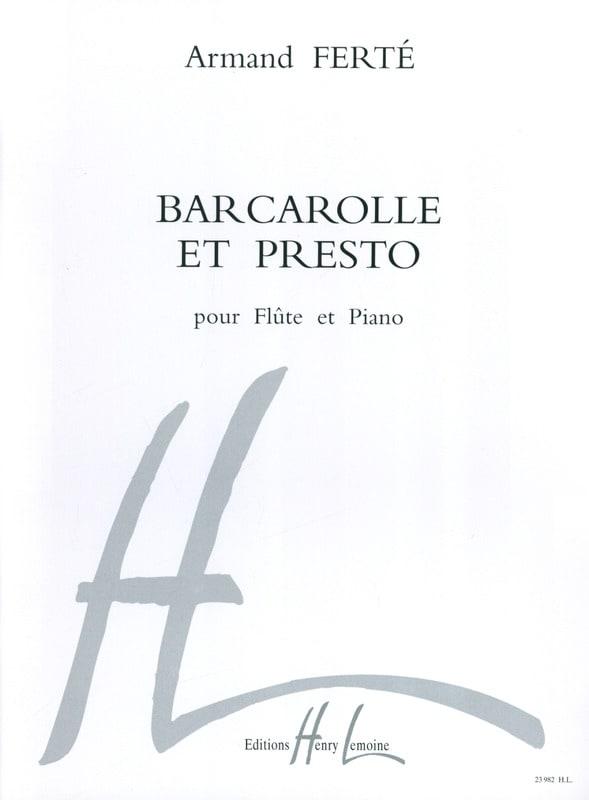 Armand Ferté - Barcarolle and Presto - Partition - di-arezzo.co.uk