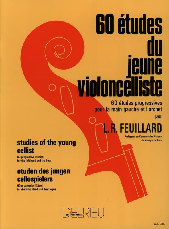 FEUILLARD - 60 Studies of the young cellist - Partition - di-arezzo.co.uk