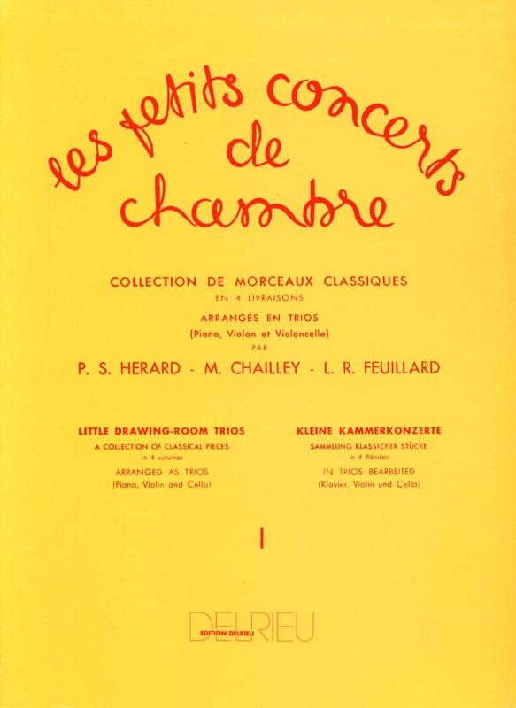 FEUILLARD - The Little Chamber Concerts Volume 1 - Trio - Partition - di-arezzo.co.uk