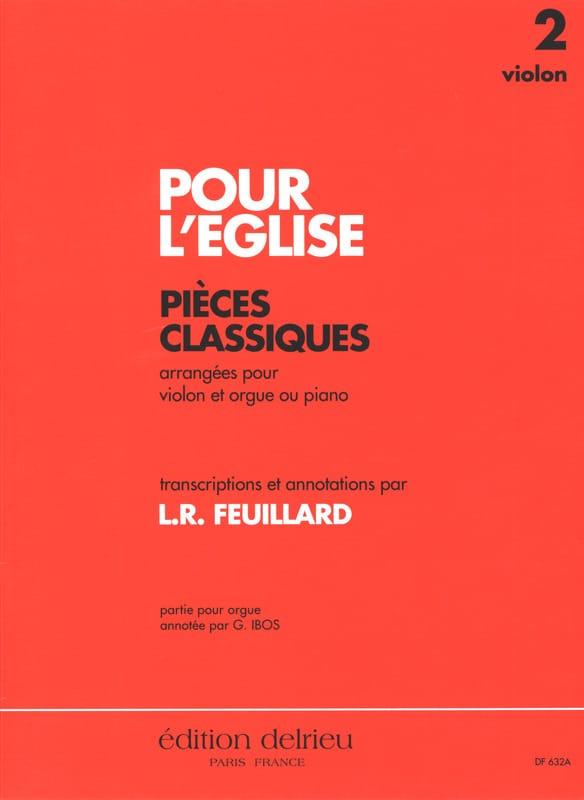 FEUILLARD - For The Church Vol.2 - Violin, Cello, Organ or Piano - Partition - di-arezzo.com