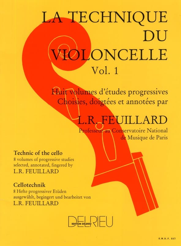 FEUILLARD - Cello Technique Volume 1 - Partition - di-arezzo.co.uk