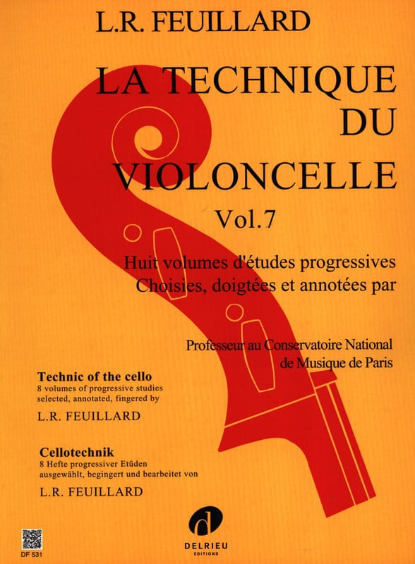 FEUILLARD - Cello Technique Volume 7 - Partition - di-arezzo.com