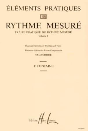 Fernand Fontaine - Volumen 1 - Verdad práctica del ritmo medido - Partition - di-arezzo.es