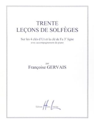 Françoise Gervais - 30 lezioni in Solfegazione - 5 chiavi A / A - Partition - di-arezzo.it