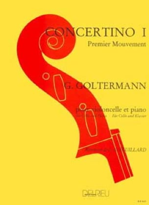 Georg Goltermann - Concerto N ° 1 Op.14 in A Minor 1st Mvt - Partition - di-arezzo.co.uk